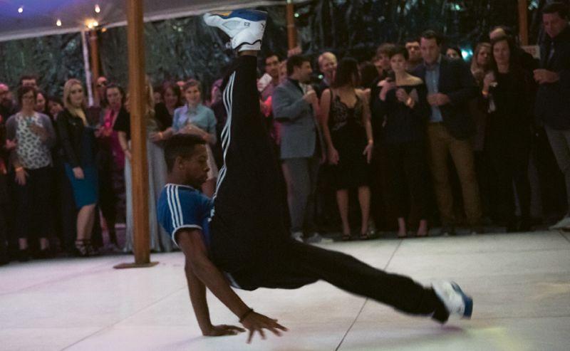 Break dancers provided impressive entertainment.