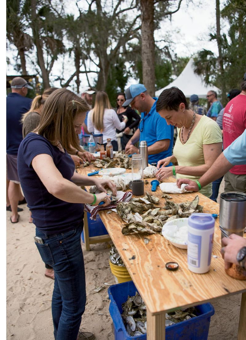 At the event, attendees shucked 33 bushels of  oysters—the most in eight years.
