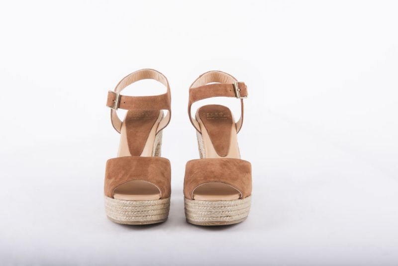 """Andre Assous """"Sasha Suede Rope Heel"""" in brown, $259 at Gwynn's of Mount Pleasant"""
