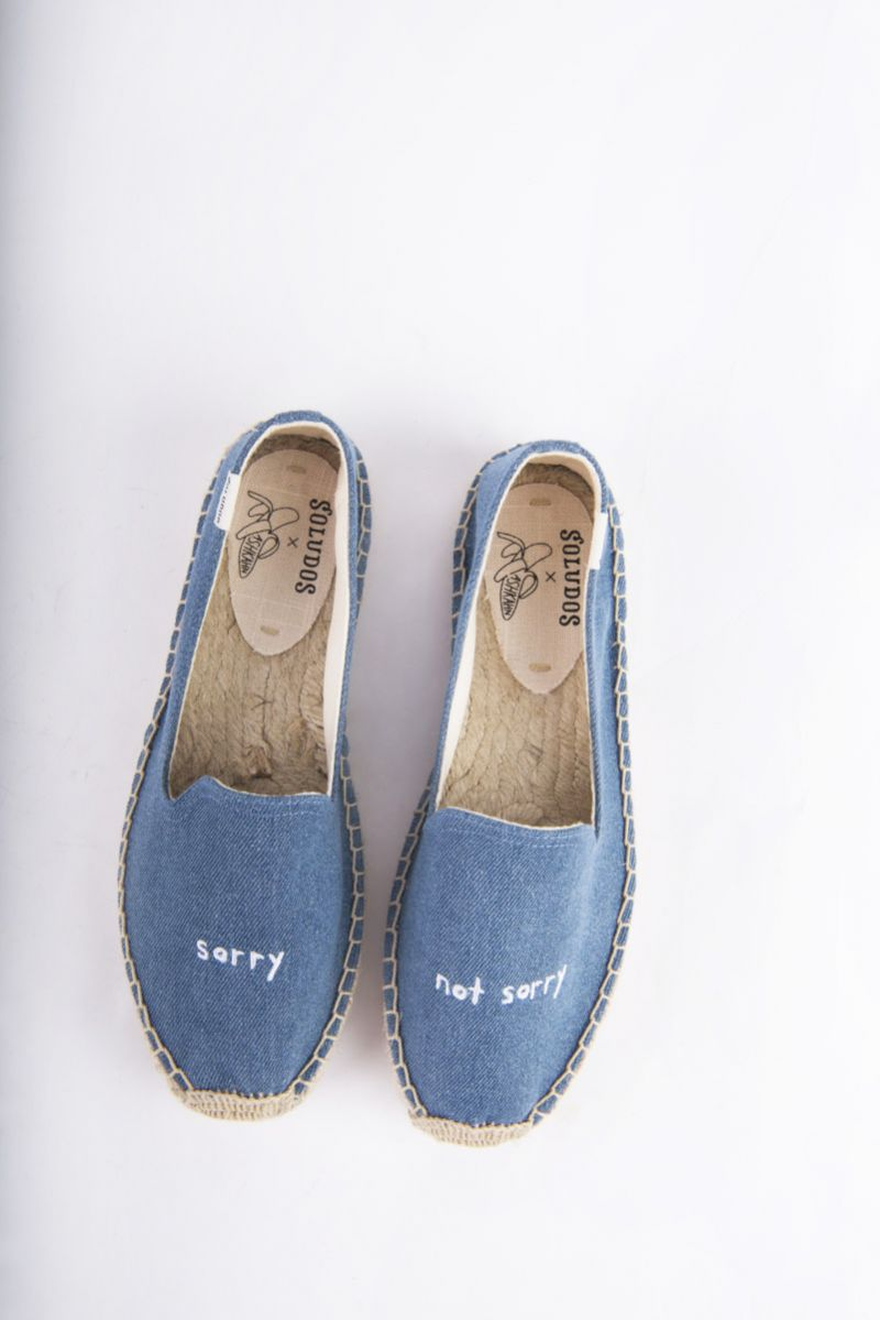 """Soludos """"Ashkahn Sorry Not Sorry"""" embroidered slipper, $85 at Shoes on King"""