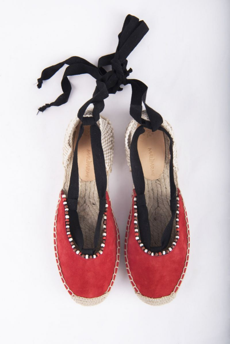 """Maliparmi """"Suede Patch Espadrilles"""" with hand embroidered beading, $195 at Shoes on King"""