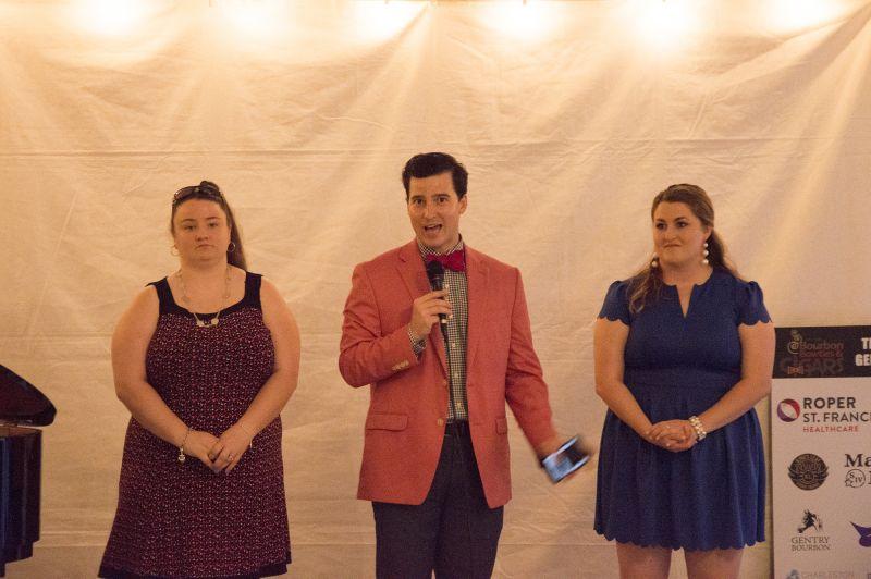 Ryan Brant with Positive Strides athletes Courtney Sprissler and Marissa Flora
