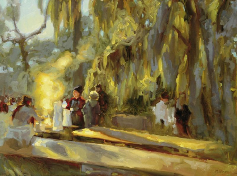 "Oyster Roast, 2010, 30"" x 40"", oil on linen"