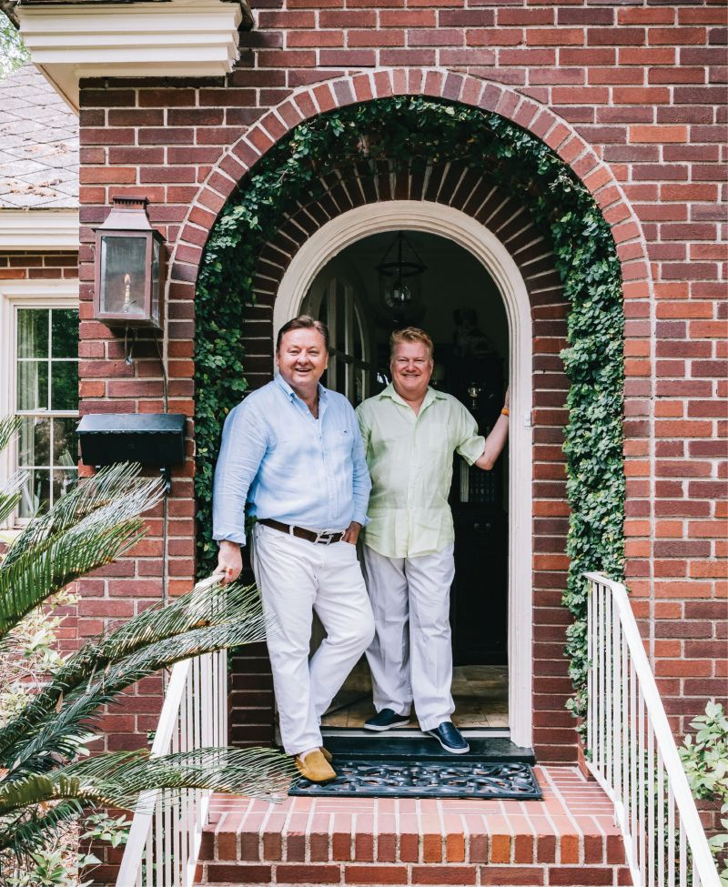Event designer Mitchell Crosby (left) and his partner, Randall Felkel, regularly host parties of all sorts...