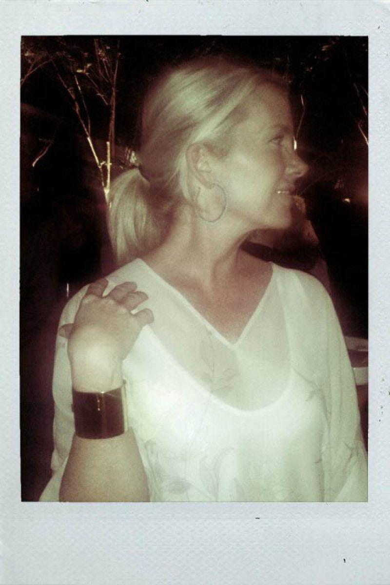 Carolyn Hudson in a well styled ensemble