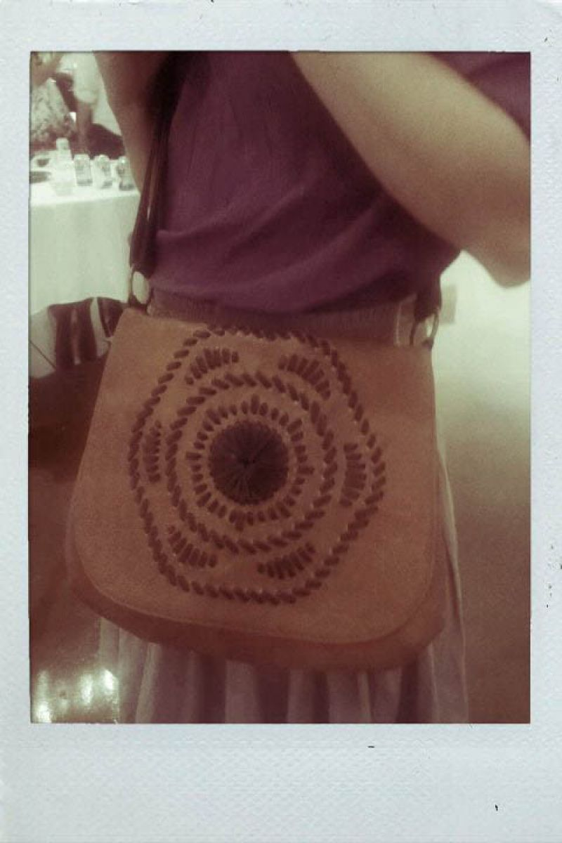 Hayne's awesome handbag choice!