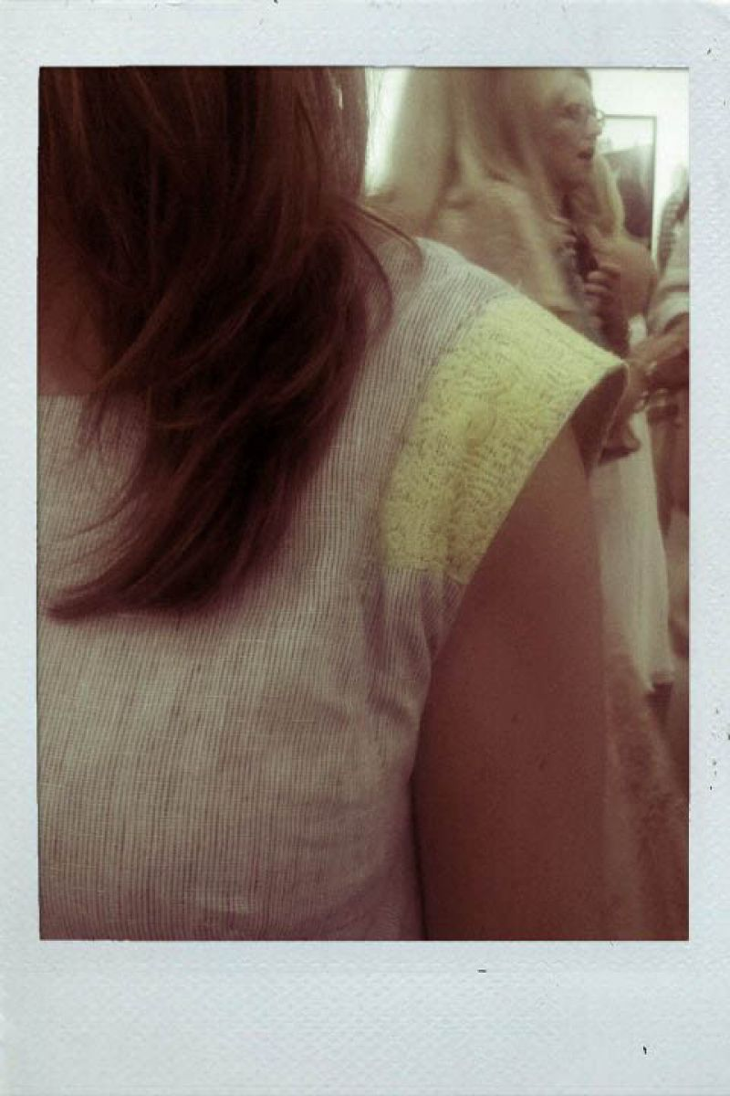 Rose- Yellow lace overlay shoulder detail!