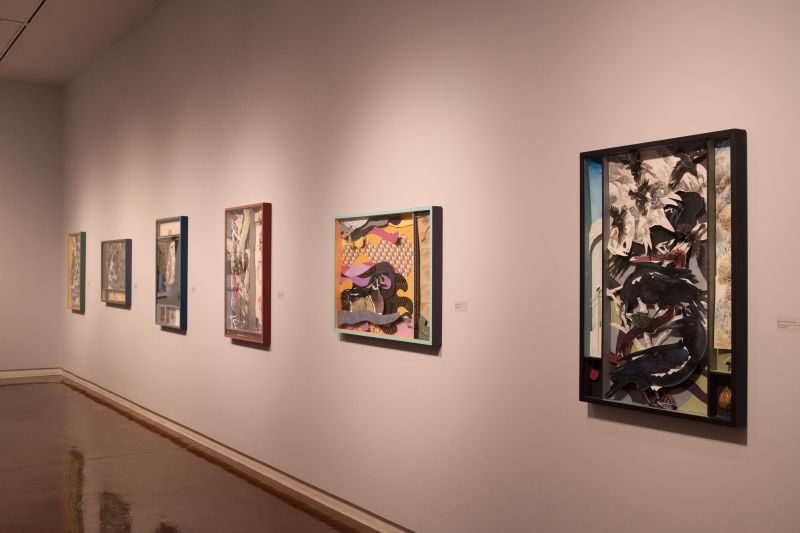 A few of Hitnes' works on view