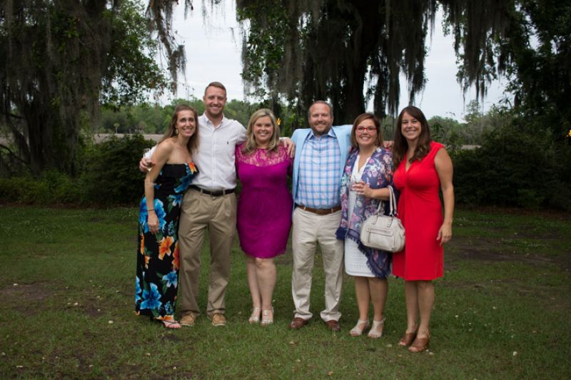 Jen Stewart, Nicholas Mello, and Carter Coyle with Matt and Tammy Conklin