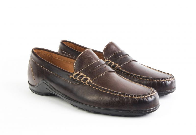 "Martin Dingman, ""Bill"" Penny Loafer in ""walnut"", $250 at Dumas"