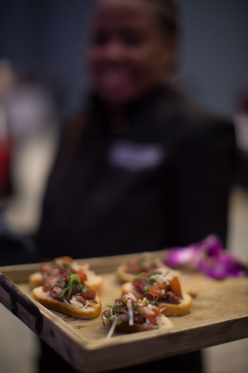 Guests enjoyed tasty, bite-sized fare prior to the concert, such as open-faced pastrami sliders.