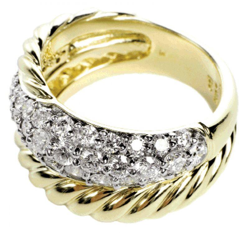 MILKY WAY: 18K yellow gold David Yurman ring with pavé diamonds (1.2 total ct.) REEDS, $4,500