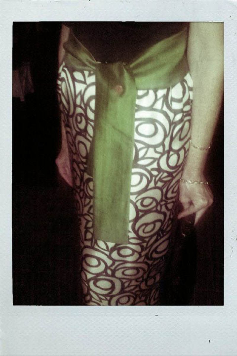 Lynn also wears her mother's 1950's dress. Gorgeous!