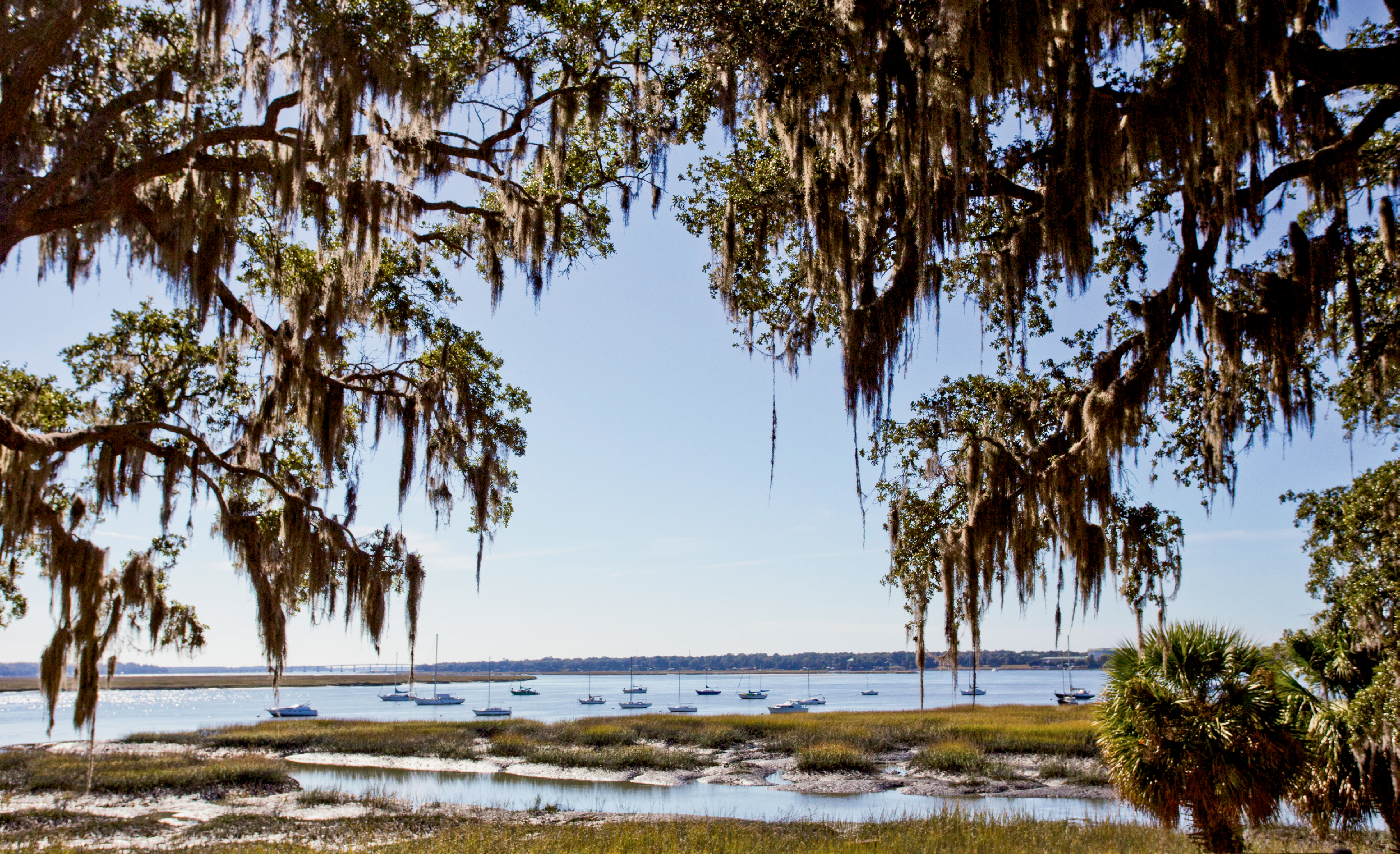 A Natural Harbor: The tidal Beaufort River as seen from Bay Street, looking toward Port Royal and Parris Island