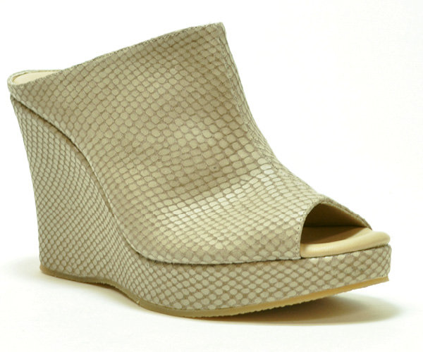 """Witten"" peep-toe wedge sandals by Cordani"