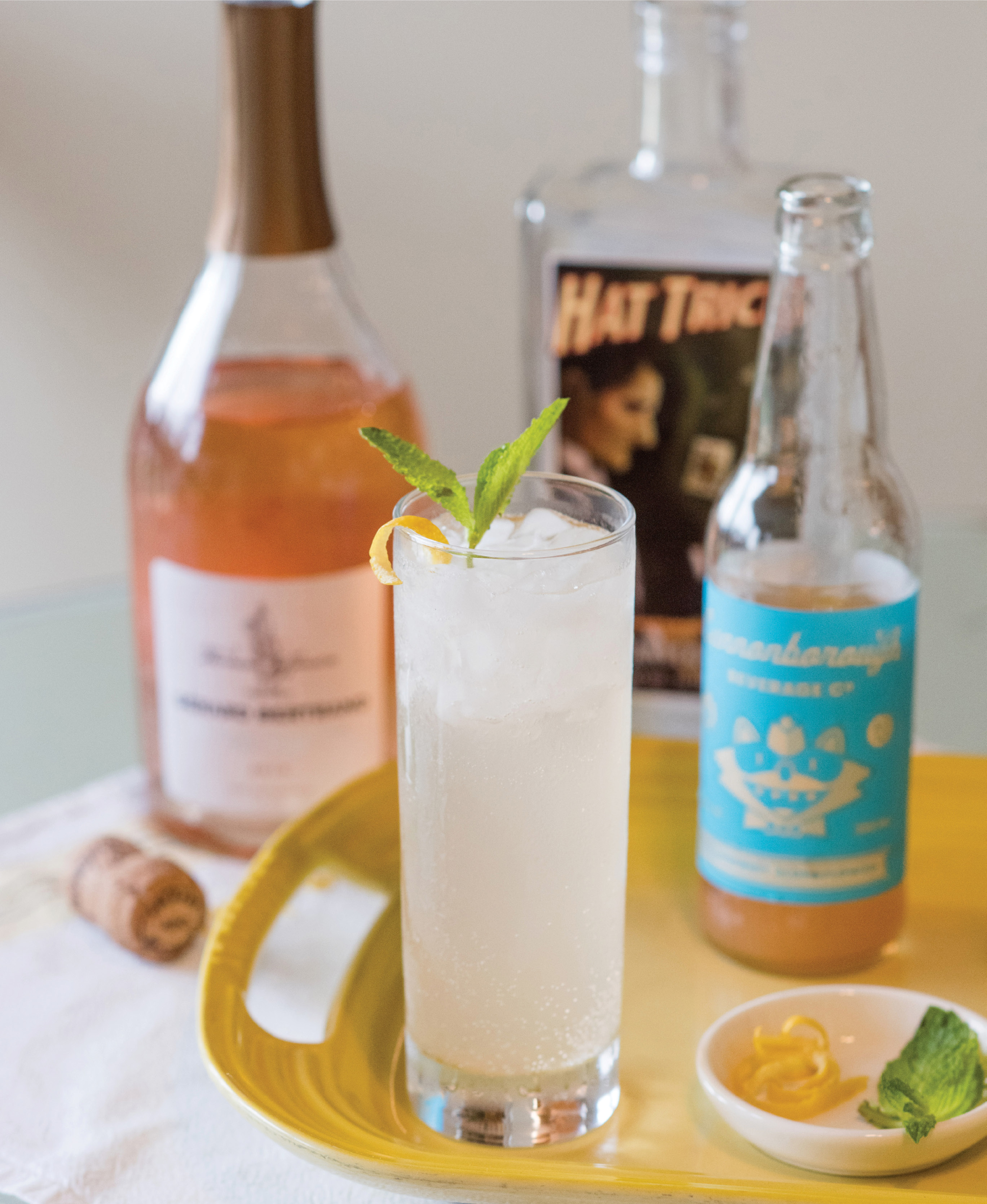 Floral gin, grapefruit soda, and sparkling rosé combine in this bright, refreshing sip. Pair it with pastry chef Andrea Upchurch's Charleston-style quiche and lemon cake with berries, and you've got a supper fit for an easy afternoon.