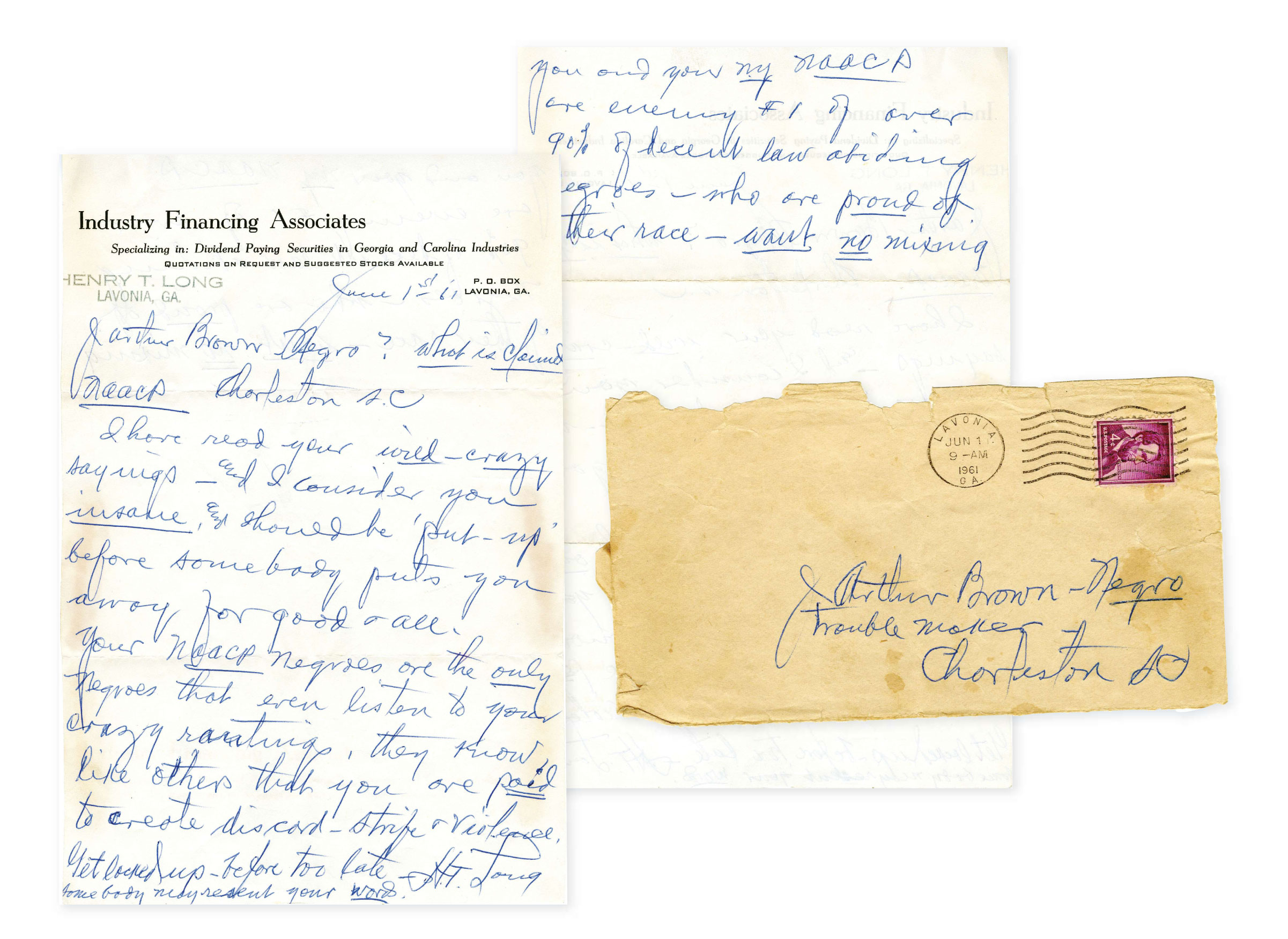 The J. Arthur Brown papers at the Avery Research Center reveal how the family was on the front line of local civil rights battles, and often on the receiving end of hateful tirades.