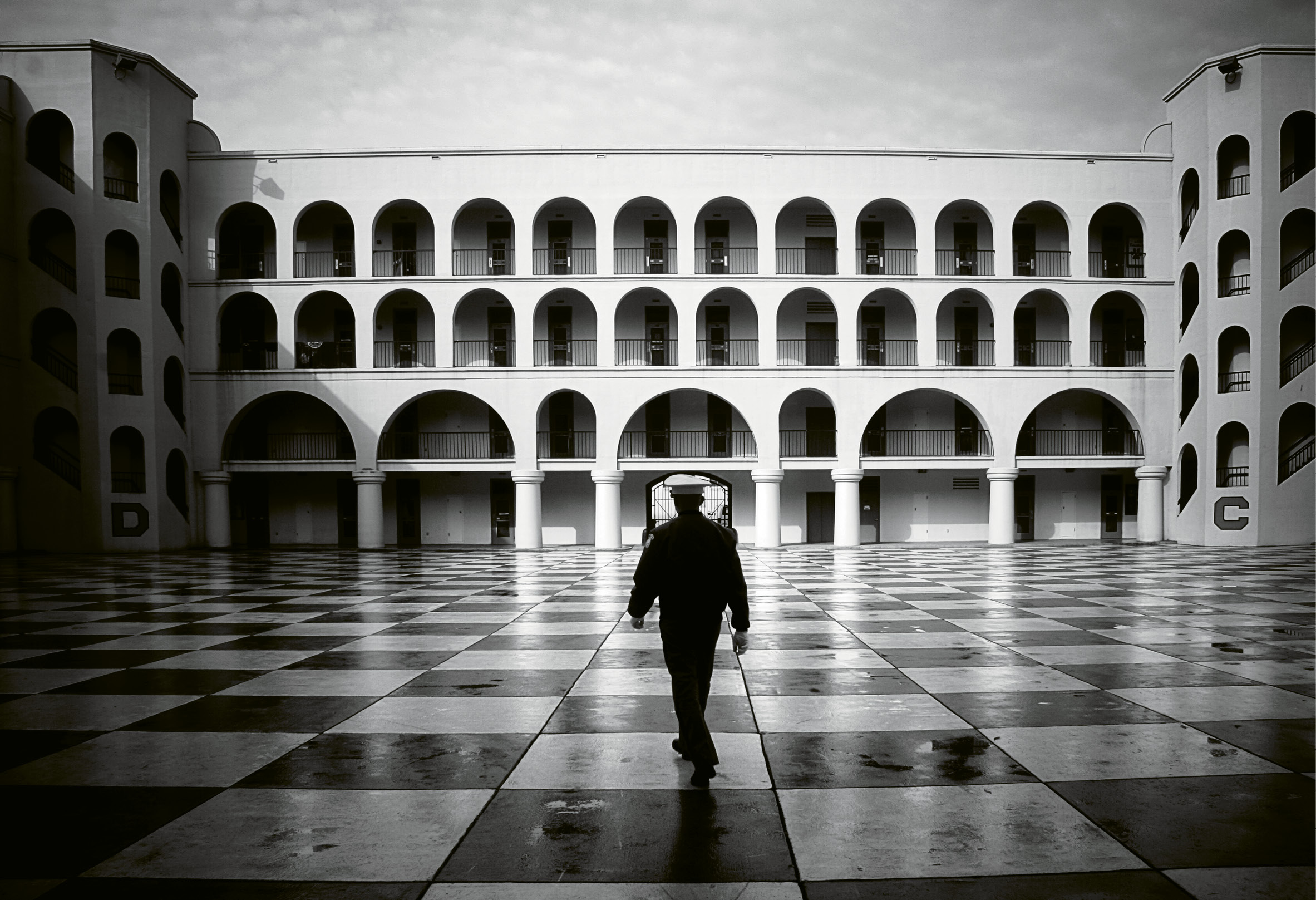 Honor by Ellen Yampolsky  {Professional category} - A lone cadet at The Citadel in April 2008