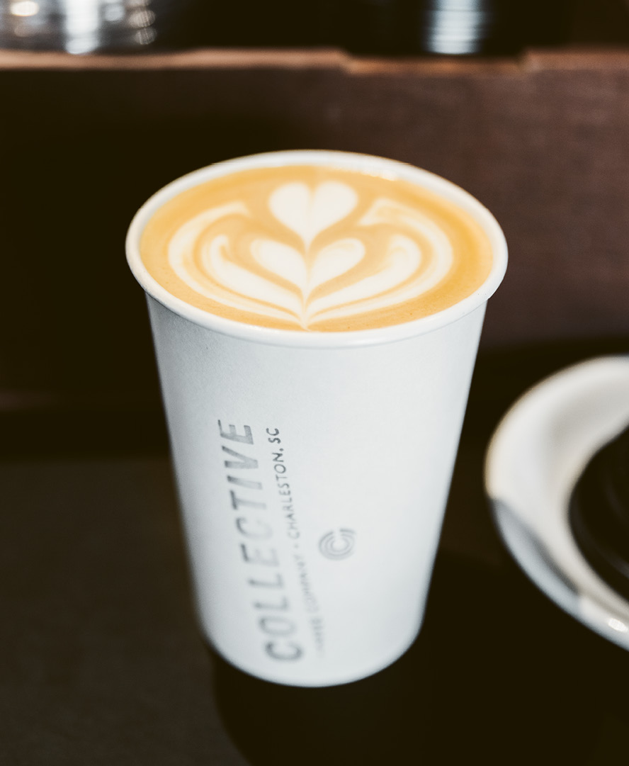 Lovin' the latte at Collective Coffee in Mount Pleasant