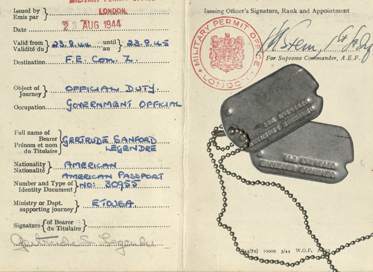 Her passport and dog tags
