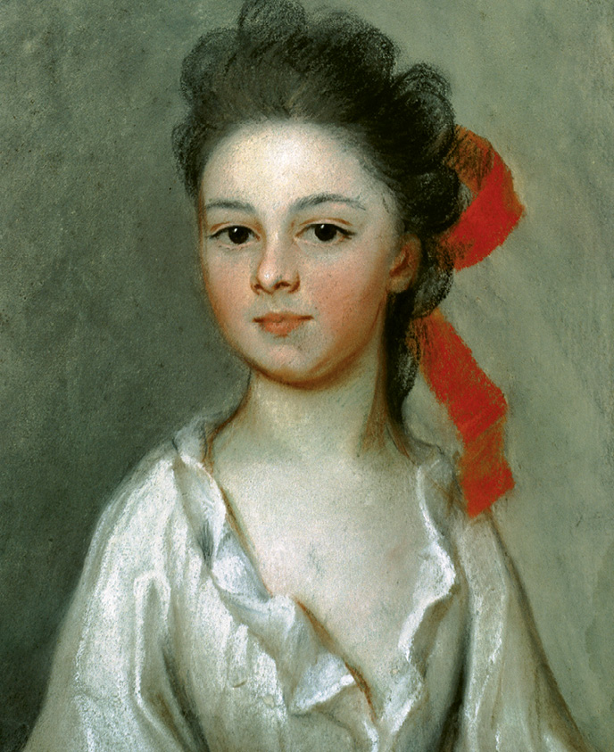 ...the 1711 pastel-on-paper portrait Henriette Charlotte Chastaigner (Mrs. Nathaniel Broughton) by Henrietta de Beaulieu Dering Johnston, who is considered to be the first female artist in the United States.
