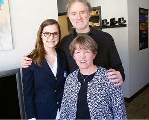 Rebecca and Jenny with Olmsted narrator Kevin Kline