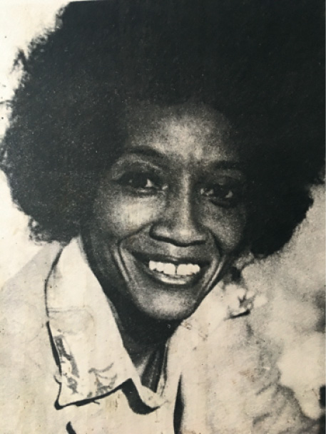 Johanna Martin-Carrington's campaign photo for her run for Compton City Council in 1976
