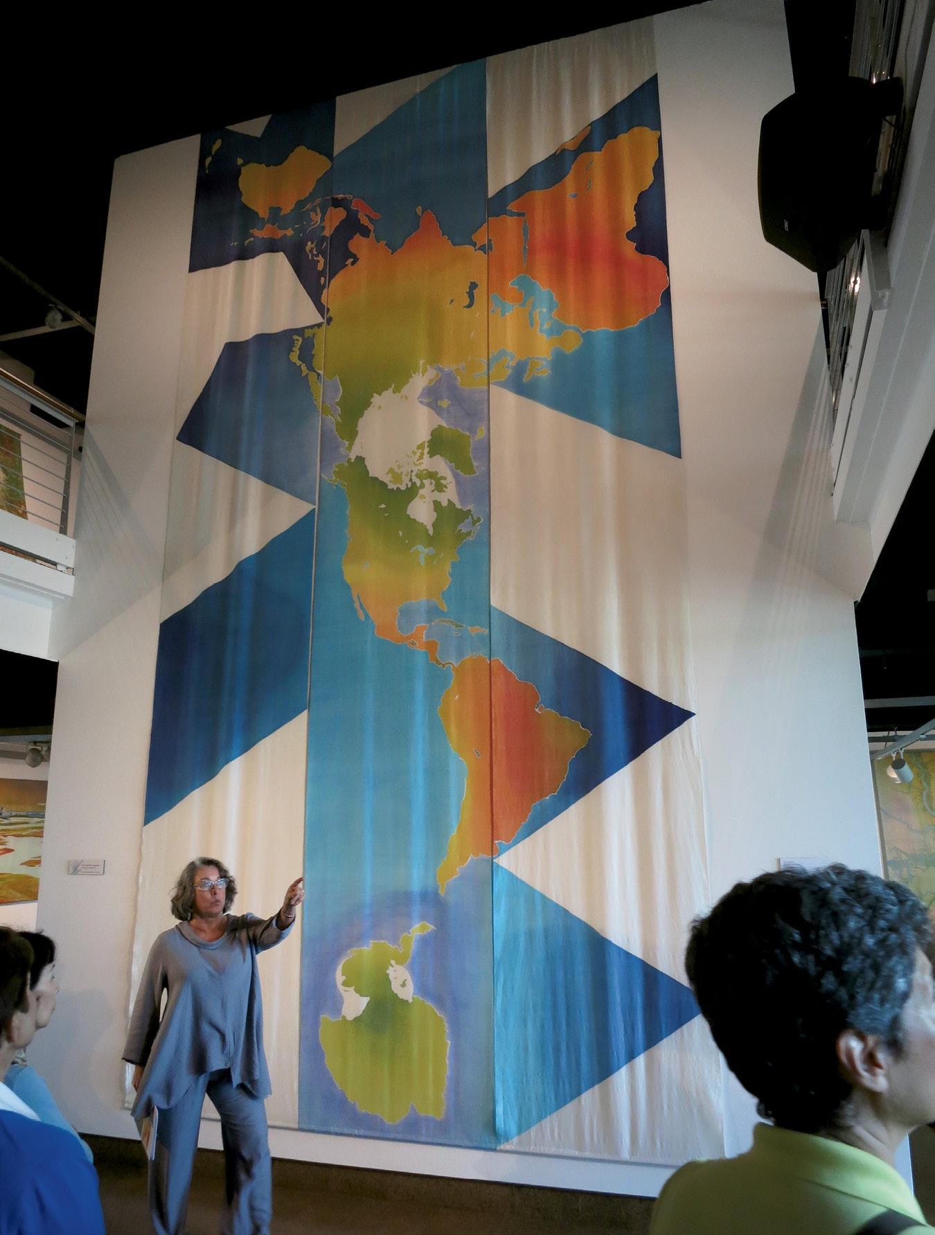 Global Perception (batik on silk, 21 x 9 feet, 1999), image courtesy of Mary Edna Fraser