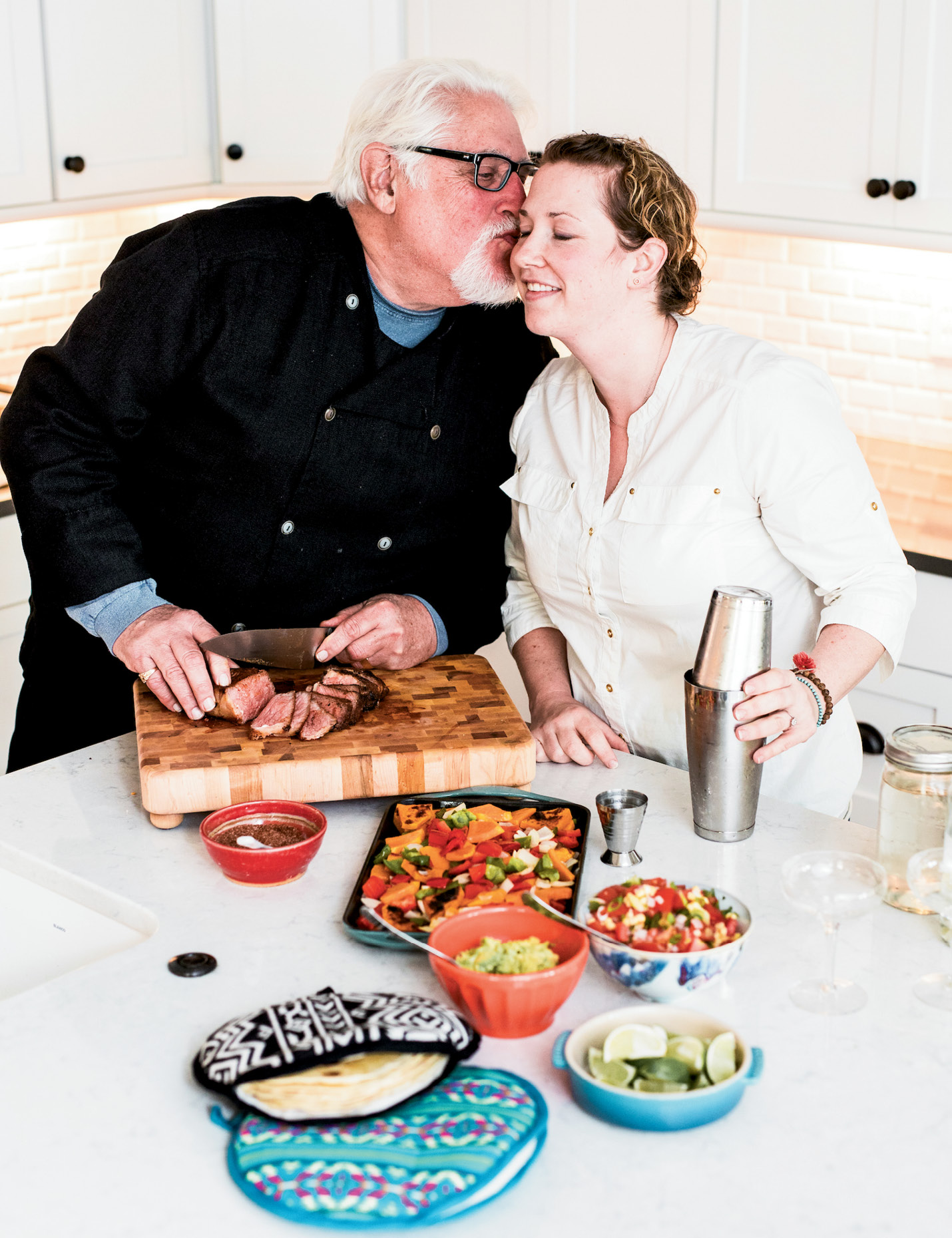 """MariElena and her father, Robert Dickson, have always bonded over food. """"I didn't tell my dad I wanted to go to culinary school until I was certain, because I knew he'd be all in,"""" she says."""