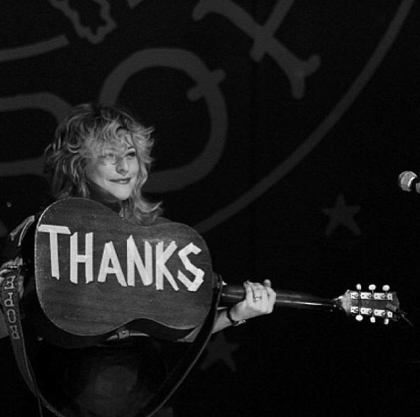 Simple gratitude at Charleston Music Hall, January 2014.