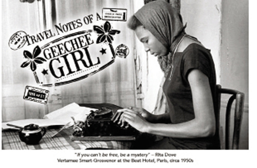 The film's promotional poster includes a photograph of Smart-Grosvenor in Paris at the Beat Hotel, circa 1958.