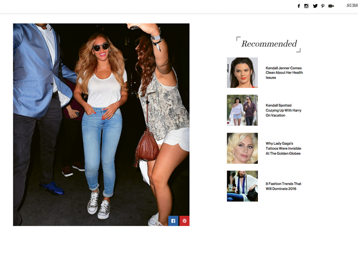 """One of Amy's big breaks came when Beyoncé (pictured above hitting the town in her Luxe Chucks) carried an """"Antler"""" clutch (opposite) to a Hollywood event. """"When my phone and Instagram were lighting up, a friend told me to just sit back and enjoy this moment of celebrity fame, because it could be over just as fast. But it's sure fun!"""" says Amy."""