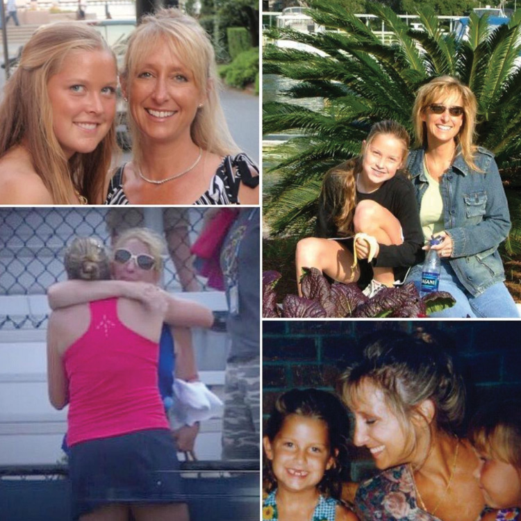 """A birthday collage for her mom, Starley, """"the strongest woman I know!"""""""