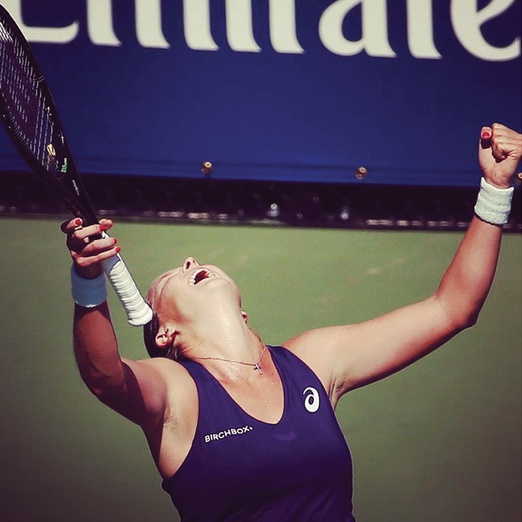"""""""Fought back and got the win over Errani..."""" (first round of the 2016 US Open)"""