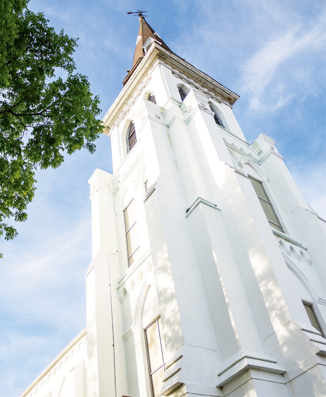 """The circa-1891 edifice of Emanuel African Methodist Episcopal Church in downtown Charleston; with its congregation founded in 1816, it is the oldest AME church in the South and often referred to as """"Mother Emanuel."""" Photograph by Amy Luke"""