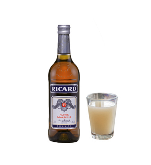 "Nostalgic Sip - ""Pastis is a classic drink in France. I pour it over ice, mix it with a little bit of soda water. It's perfect for a hot day."""