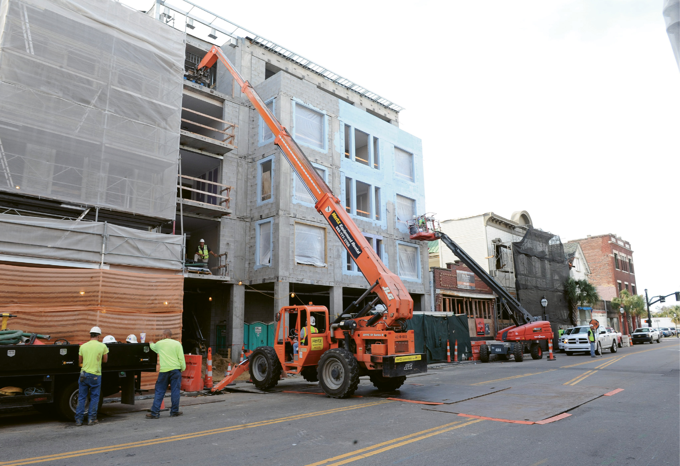 A 54-room hotel goes up on a former vacant lot on upper King, across the street from the Hyatt House/Hyatt Place properties, which opened in September 2015 with a combined 304 rooms, meeting spaces, and a parking garage.