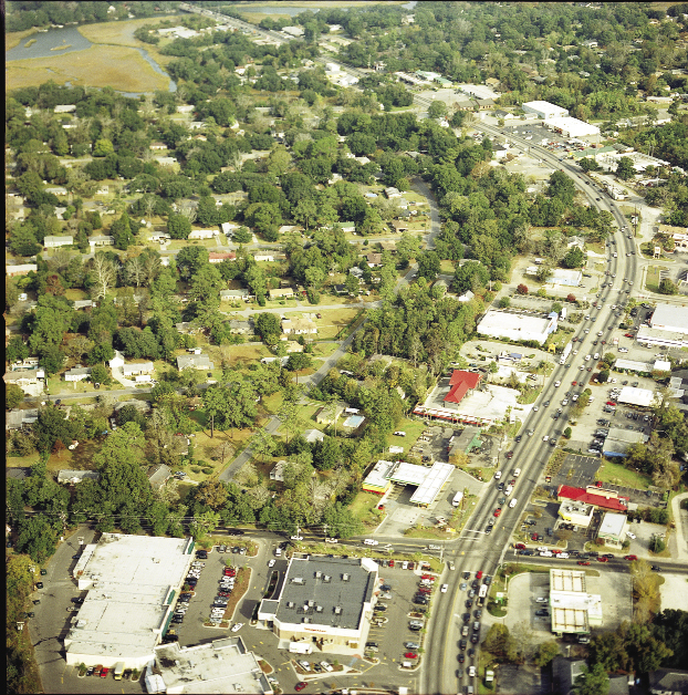 During Riley's tenure, the City of Charleston, and its tax base, has expanded far beyond the peninsula to include annexed land in West Ashley and Daniel Island. James Island, pictured above, has been a repeatedly contentious annexation battleground and one of the few that Riley has lost.