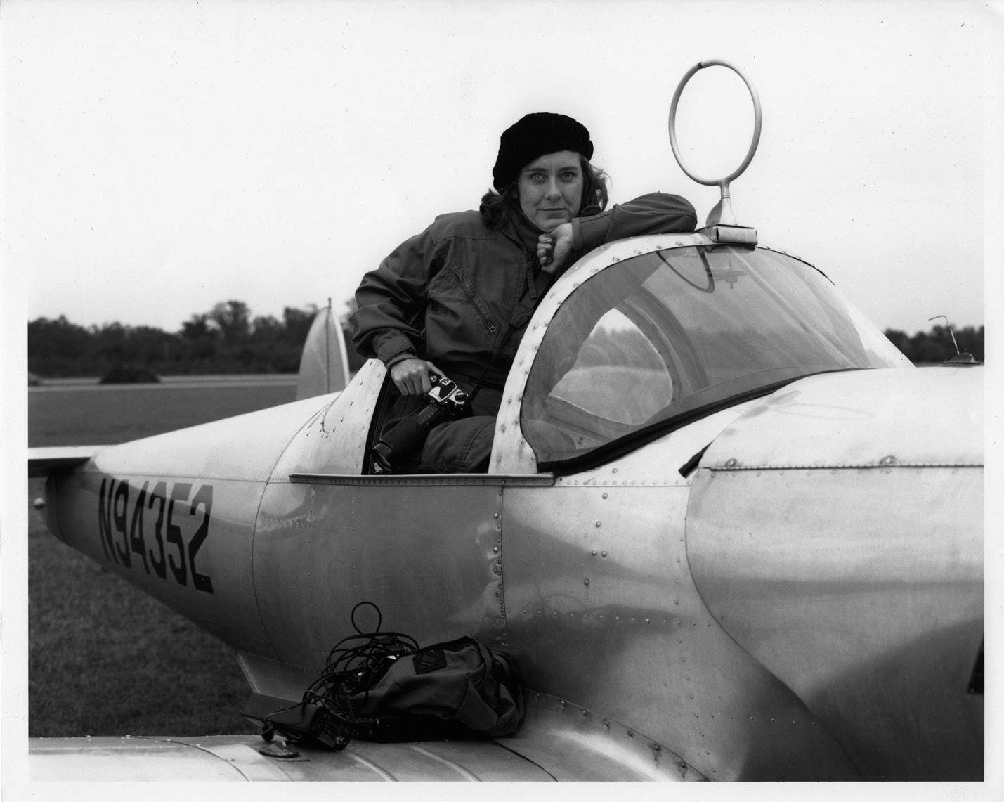"""Undaunted: """"If I don't get into a place I want to go, I go knock on another door,"""" says the fearless Fraser, whose master pilot father took her flying in his 1946 Ercoupe; photograph courtesy of Mary Edna Fraser"""