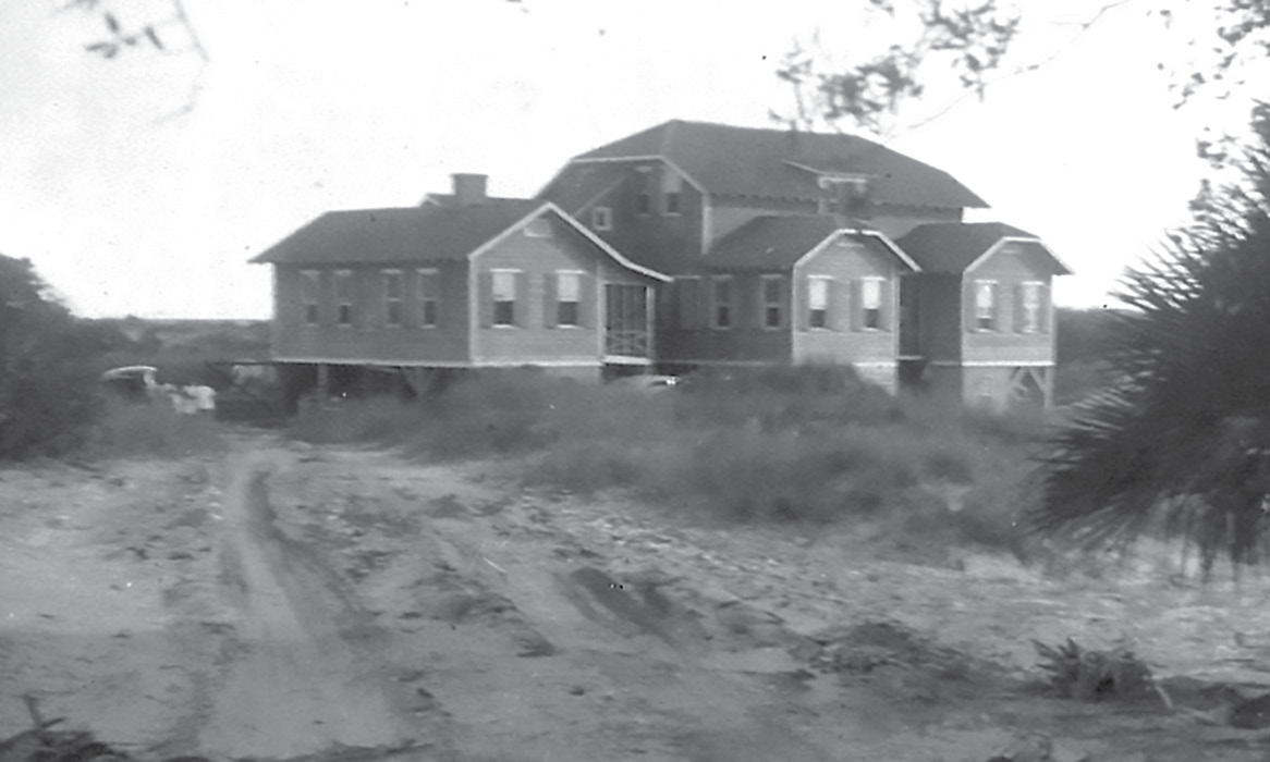 The Morawetzes' beach house on Seabrook; the couple purchased much of the island to preserve its natural beauty. In 1958, Marjorie deeded it to the Episcopal Diocese of South Carolina. Camp St. Christopher remains there today as a retreat and conference center.