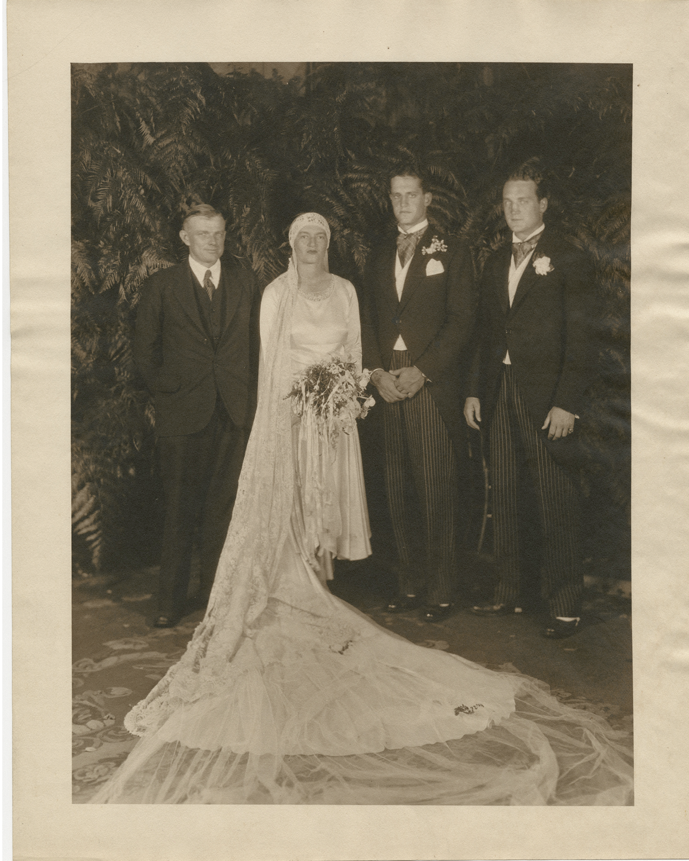 Gertrude and Sidney's wedding portrait, 1929