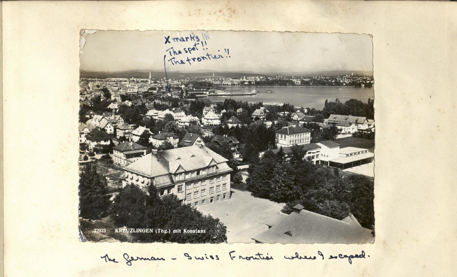 Kreuzlingen, the Swiss border town where Gertie escaped