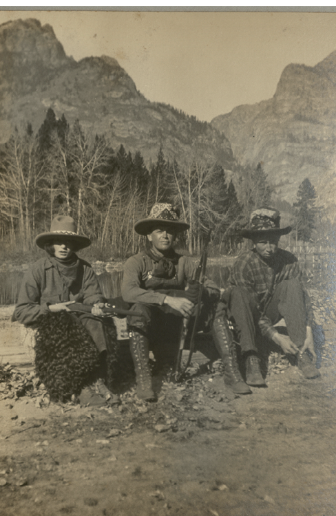 Hunting in Wyoming, 1920