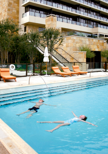 With its handsome façade and bellman at the ready, The Umstead is the picture of luxury. Luckily, it's also family-friendly, with a pool that invites guests to float the day away.