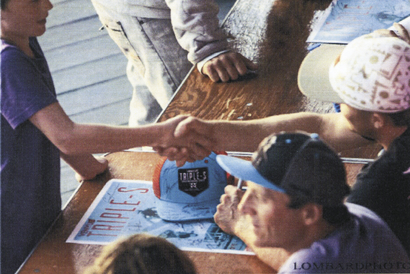 Signing autographs at the 2014 Triple-S in Cape Hatteras