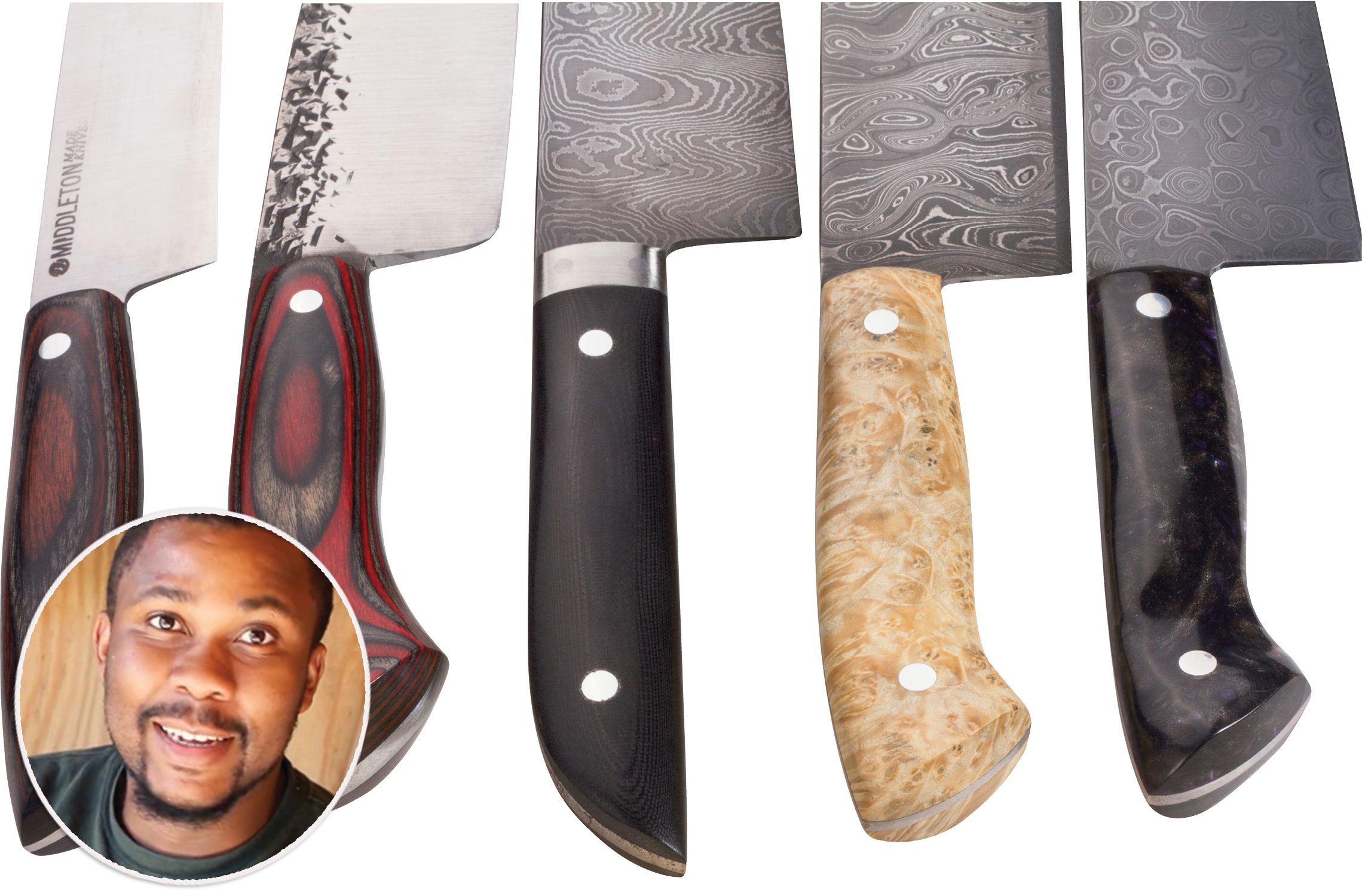 KNIVES: Middleton Made; custom-crafted blades by Saint Stephen-based artisan Quintin Middleton