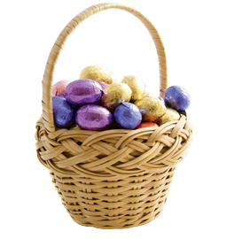 """Every Easter: """"I always get a big Easter basket from my mom. She puts less chocolate in it now because she figures I eat enough of it."""""""
