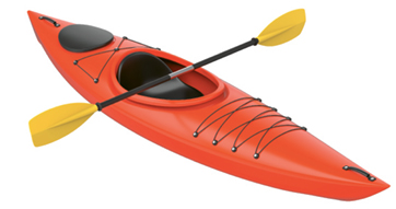 """Chill Zone: """"When I can, I like to get in the water—I'll borrow a kayak from a friend."""""""