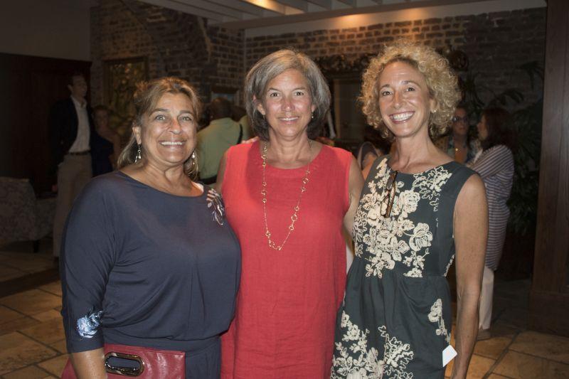 Karen Donadio, Jennifer Barickman, and Louie's Kids volunteer coordinator Jennifer Thackston