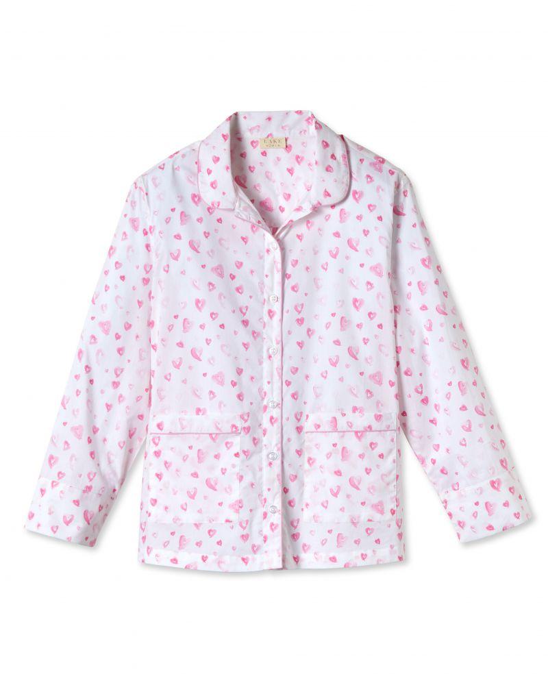 """Lake Pajamas """"Heart"""" printed shorts set, $118 at Lake Pajamas"""
